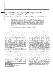 Isolation of Polyacrylamide-degrading Microorganisms from Soil