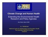 Climate Change and Human Health Extending the Environmental ...