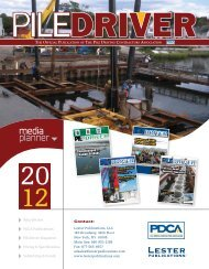 Who We Are - Pile Driving Contractors Association