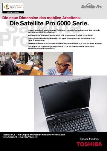 Die Satellite Pro 6000 Serie. - Toshiba