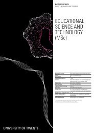 edUCATionAL sCienCe And TeChnoLogY (Msc)