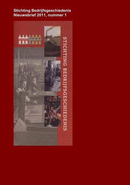 nieuwsbrief van de Stichting Bedrijfsgeschiedenis
