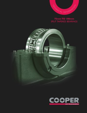 US Split Tapered Bearings mini Catalogue - Cooper Bearings