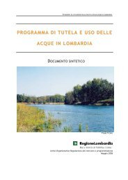 programma di tutela e uso delle acque in lombardia - ORS - Portale ...