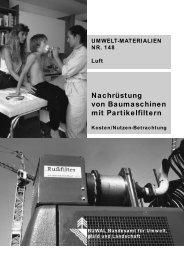 Nachrüstung von Baumaschinen mit Partikelfiltern - BAFU - admin.ch