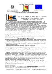 Fondo Sociale Europeo - Misura 6 Azione 6 - Cannizzaro