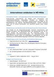 Unternehmen entdecken in NÖ-Mitte - RM Austria