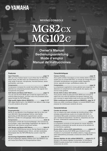 MG82cx MG102c Owner's Manual