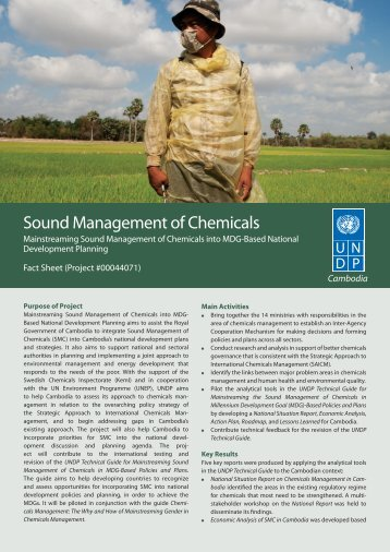 Sound Management of Chemicals - United Nations in Cambodia