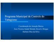 Programa Municipal de Controle do Tabagismo - Prefeitura de São ...