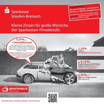 Angebot - Sparkasse Staufen-Breisach