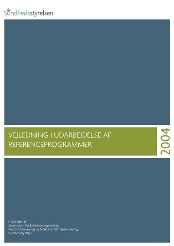 Vejledning i udarbejdelse af referenceprogrammer - Dahanca