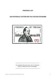 Friedrich List, Das Nationale System der politischen Ökonomie