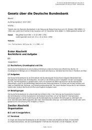 Gesetz über die Deutsche Bundesbank - Gesetze im Internet