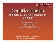 Cognitive Radios - Virginia Space Grant Consortium