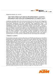 WETTER-KRIMI AUF DEM EUROSPEEDWAY LAUSITZ - KTM X-Bow