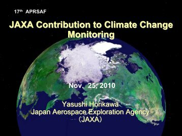 JAXA Contribution to Climate Change Monitoring - APRSAF