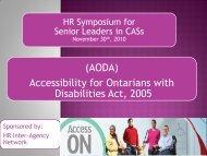 the presentation. - Ontario Association of Children's Aid Societies