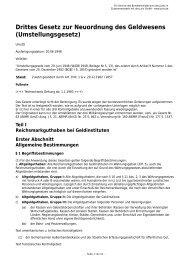 Drittes Gesetz zur Neuordnung des Geldwesens (Umstellungsgesetz)