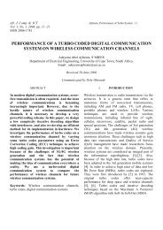 Performance of a Turbo Coded Digital Communication System on ...