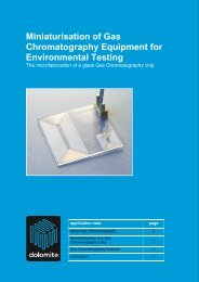 application note - Dolomite Microfluidics