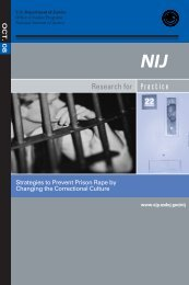 Strategies to Prevent Prison Rape by Changing Correctional