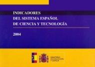 Indicadores del Sistema Español de Ciencia y Tecnología ... - ICONO