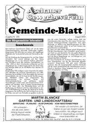 Gemeinde-Blatt Aug .03 - Gewerbeverein Aschau
