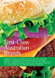 As one oF AustrAliA's lArgest privAtely held Food CompAnies ...