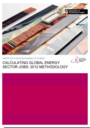 calculating global energy sector jobs - Institute for Sustainable Futures