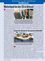 Mieterbund bei der EU in Brüssel - Deutscher Mieterbund
