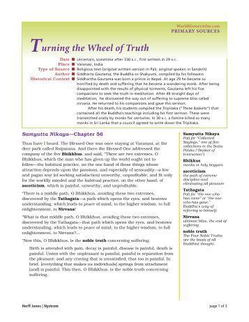 Turning the Wheel of Truth - Nystrom's World History Atlas website