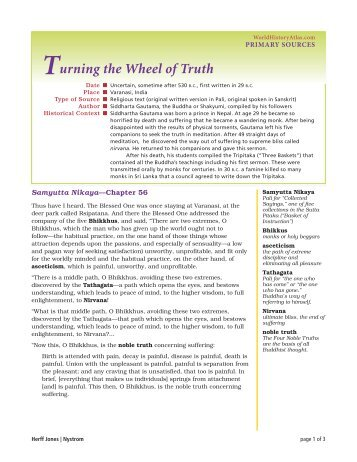Turning the Wheel of Truth - Nystrom's World History Atlas website
