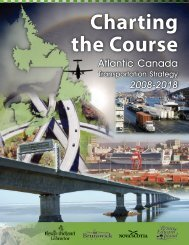 Charting the Course, Atlantic Canada Transportation Strategy, 2008 ...