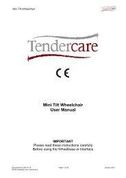 Aluminium Mini Tilt User Manual - Tendercare Ltd