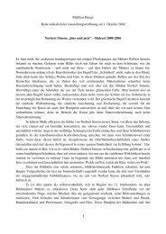 Rede von Prof. Dr. Matthias Bunge zur ... - Galerie Besch