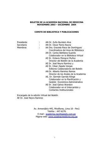 periodo noviembre 2003 - diciembre 2004 - academia nacional de ...