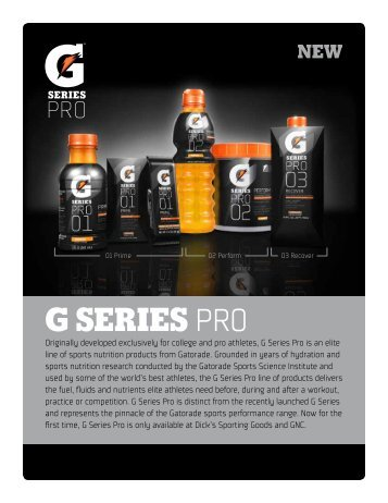 Gatorade G-Series Pro Fact Sheet - PepsiCo