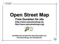Open Street Map (Einführung) und Beispielprojekte