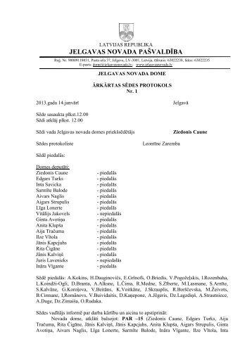 Ārkārtas domes sēdes Nr.1 protokols