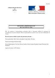 RP juillet - Ambassade de France au Kenya
