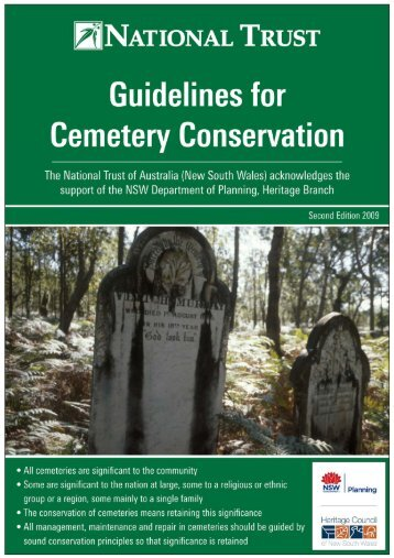 Guidelines for Cemetery Conservation - National Trust of Australia