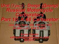 K-68 Carburetor - Good Karma Productions