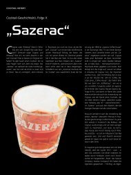 """""""Sazerac"""" - Drinks - Das Magazin für Barkeeper & Gäste"""