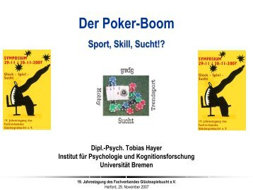 Der Poker-Boom - Glücksspielsucht