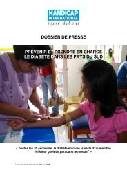 Lire le dossier de presse - Handicap International