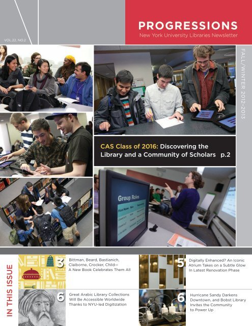 PROGRESSIONS - New York University Libraries