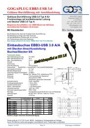 Einbaubuchse EBB3-USB 3.0 A/A mit Stecker ... - Gogatec