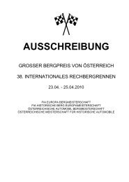 Ausschreibung Rechenbergrennen - KTM X-Bow