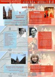 zeit·lupe - Musik 21 Niedersachsen 2008-2011
